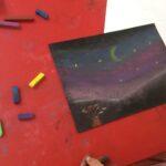 Northern Lights pastel drawing 1